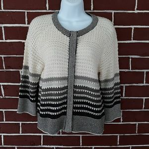 St John Wool Blend Knit Cardigan Size M